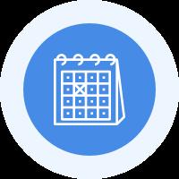 カレンダーでストレス傾向を把握
